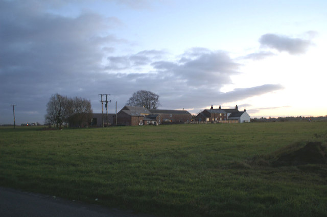 The sun setting on Sutton Farm