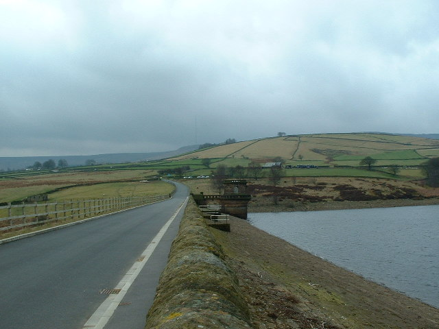 Dam for the Digley Reservoir