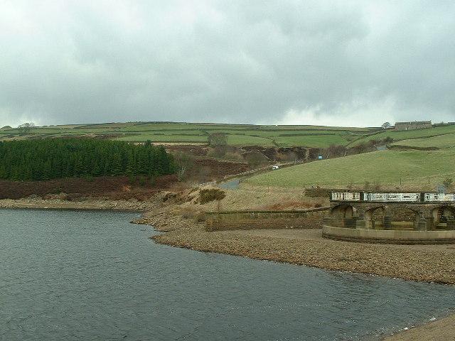 Corner of Digley Reservoir including the overspill