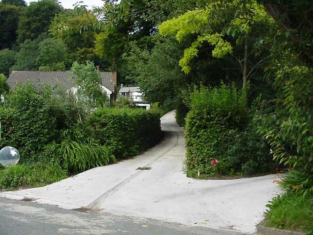 Lane to cottage, Draethen