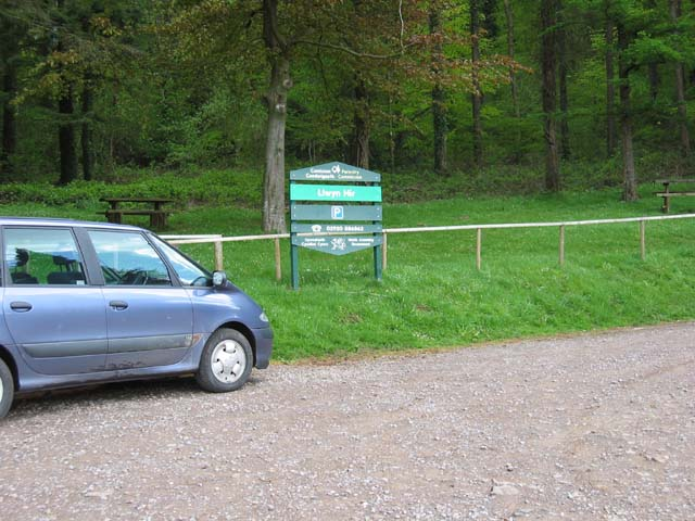 Entrance to Forestry, Llwyn Hir near Rudry