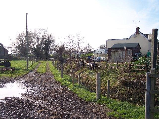 Footpath to Pitt's Mill from Brook Farm