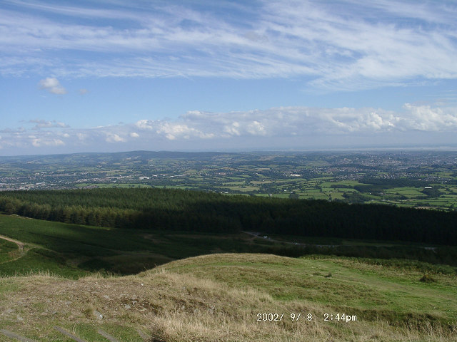 Looking East from the summit of Twmbarlwm