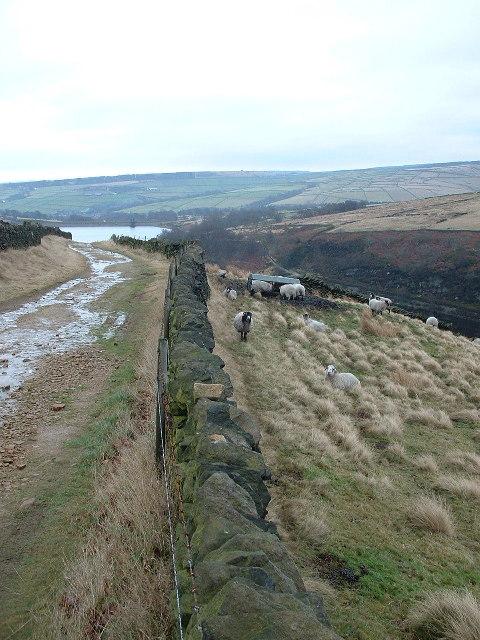 towards Marsden Clough and Digley Reservoir
