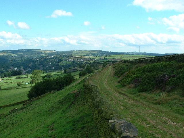 Dunsley Bank towards Holmfirth
