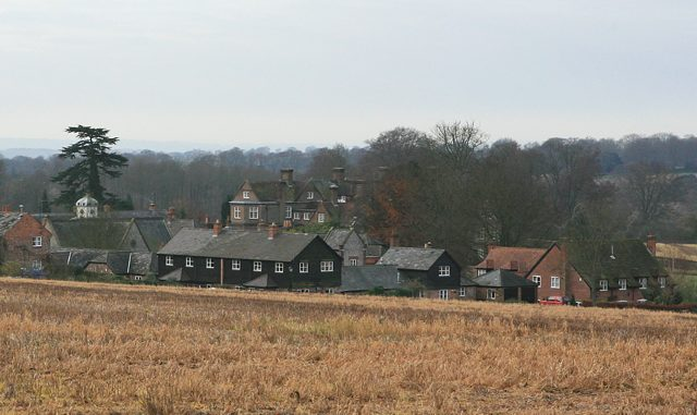 Preshaw House and farm buildings