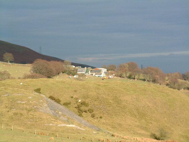View of Craig Llywarch Farm, Henllys