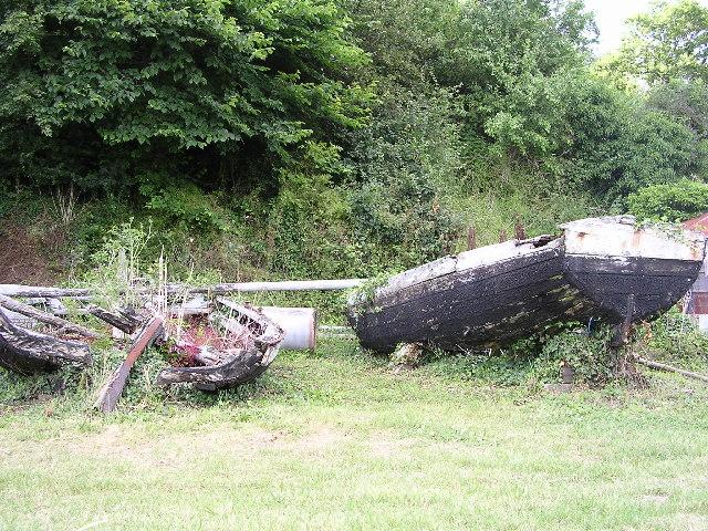 Stop-net boats at Gatcombe, near Blakeney, Forest of Dean