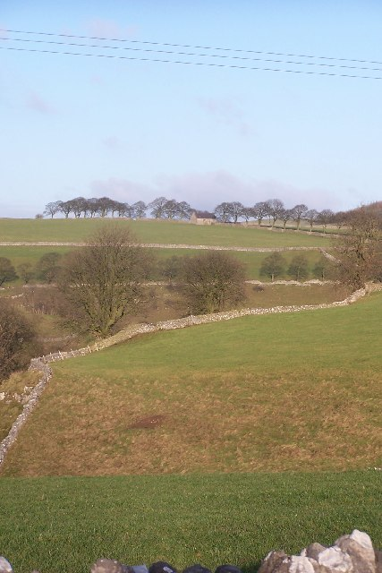 Fields above Long Dale, from High Cross