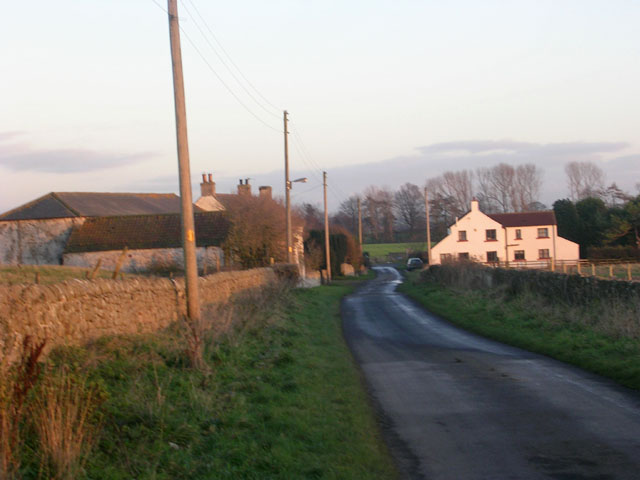 Eastern end of Langton village, County Durham