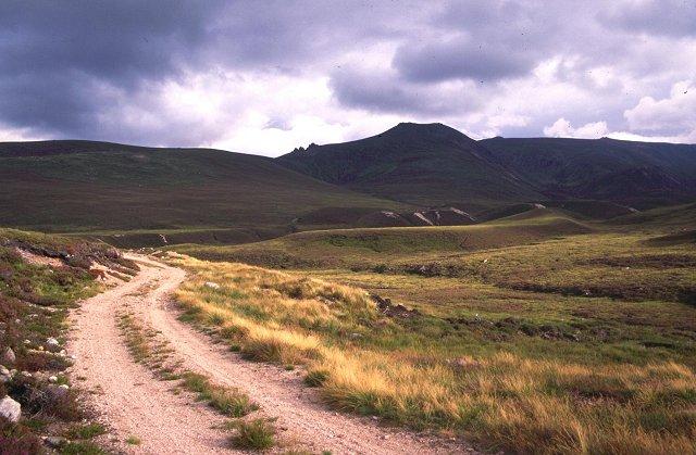 Moraine deposits in Glen Avon.