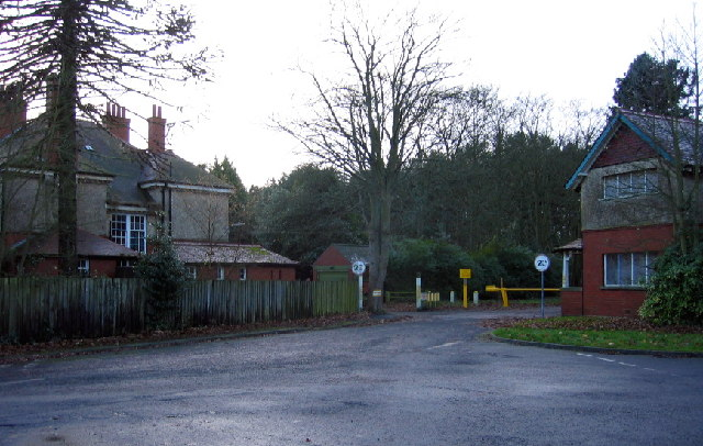 Entrance to St Mary's Hospital (disused), North Saltwick