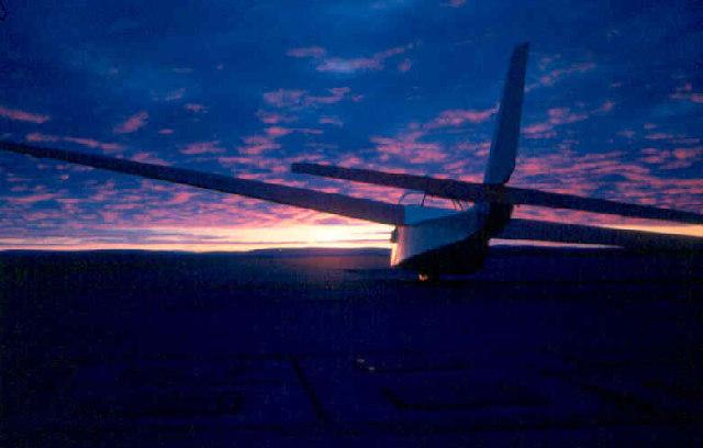 Capstan at Sunset, Milltown Airfield1970.