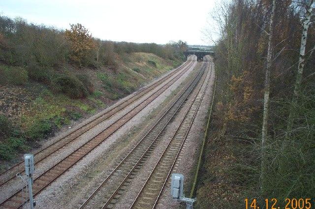 Oakley: Bedford to Wellingborough railway line