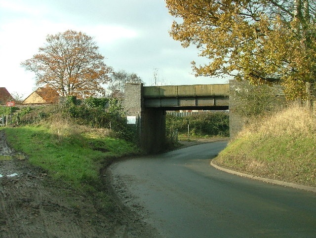 Low road passing under the railway.