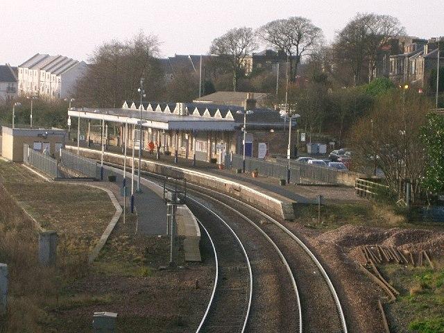 Dunfermline Town Railway Station.