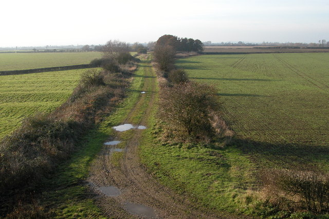 Course of the old Tewkesbury to Evesham railway
