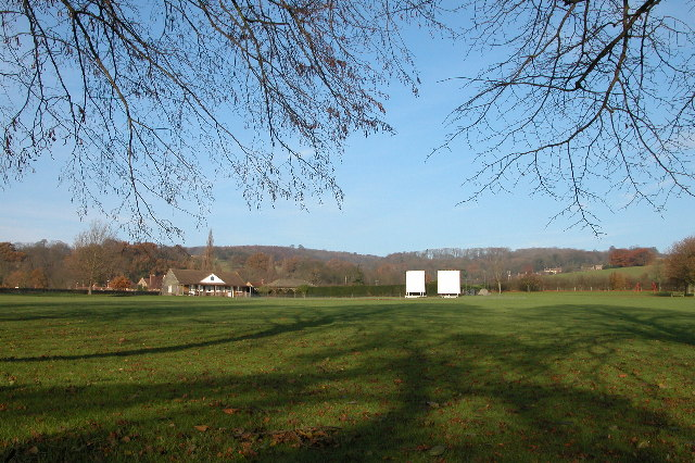 Overbury cricket field and pavilion