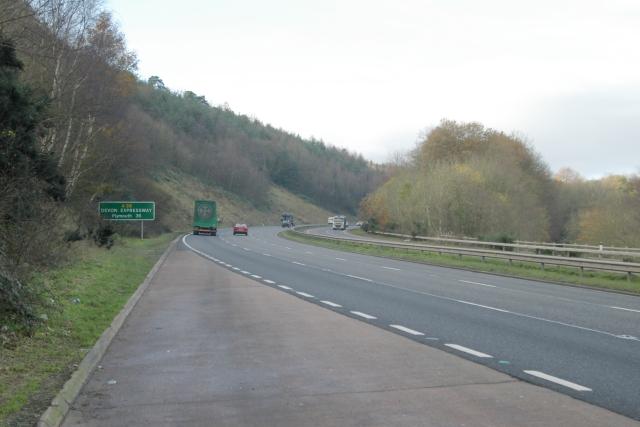 A38 Haldon Hill, Exeter side