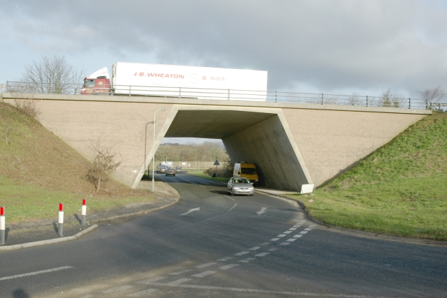 A38 overbridge, Lee Mill