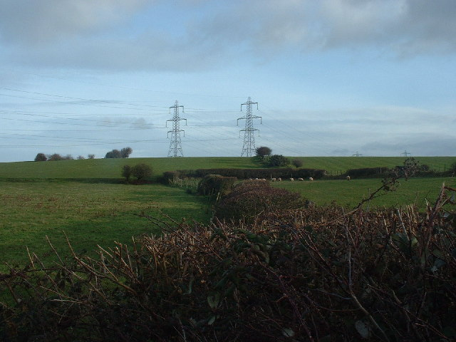 Pylons Near Heaton