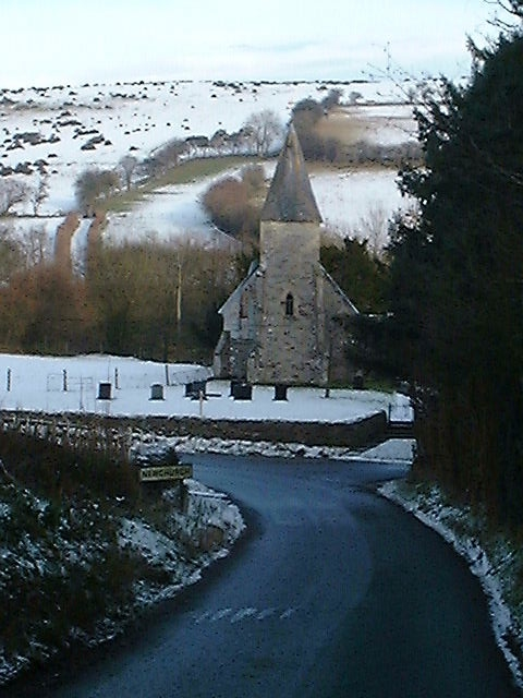 Newchurch Church in the snow