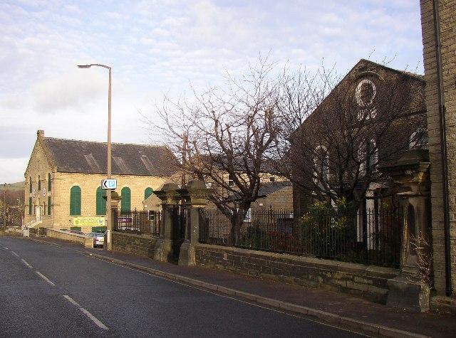 Two ex-chapels, Huddersfield Road, Elland