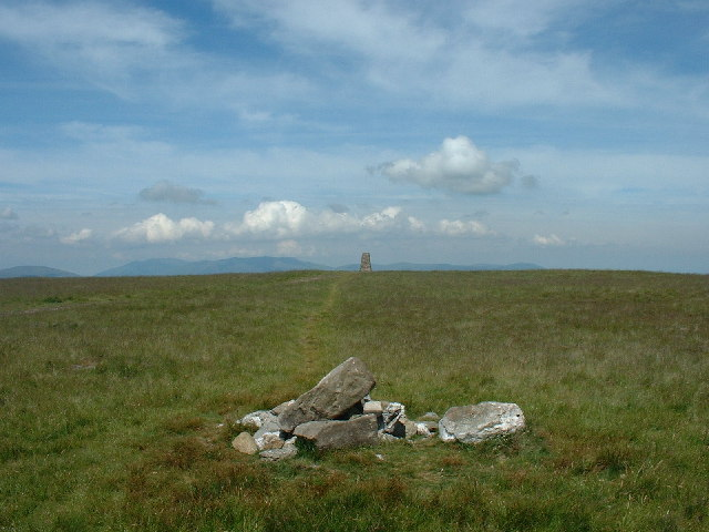 Trig Pillar and Boundary Stone Loadpot Hill