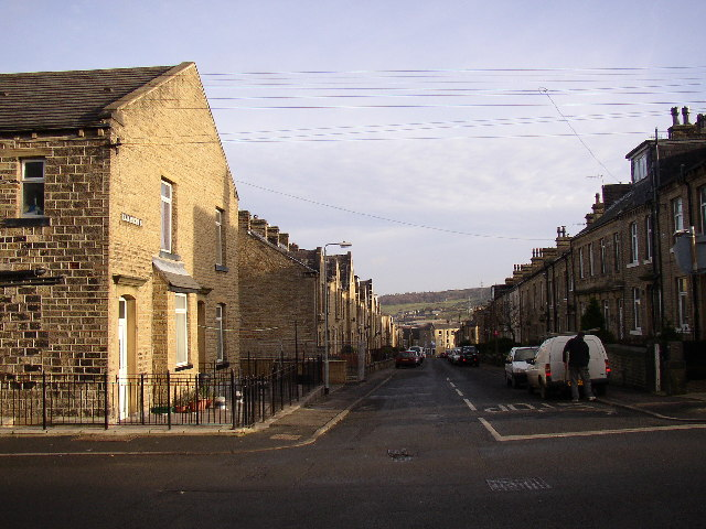 Elizabeth Street at Savile Road junction. Elland
