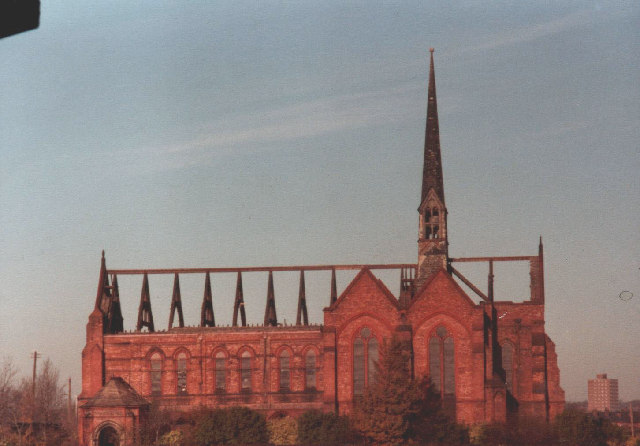 South side, St. Mary's Church, during demolition, 1978