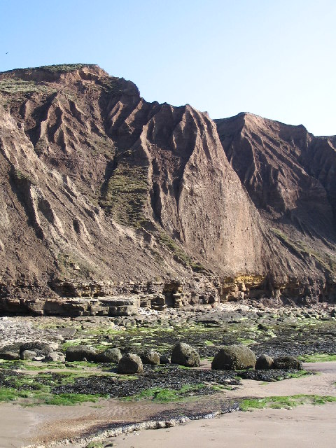 Boulder clay cliffs of Filey Brigg