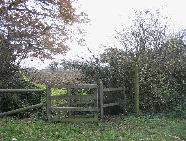 'Kissing Gate' stile near Abridge