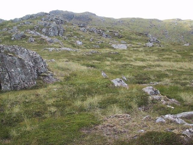 On the North East Ridge of Beinn Teallach