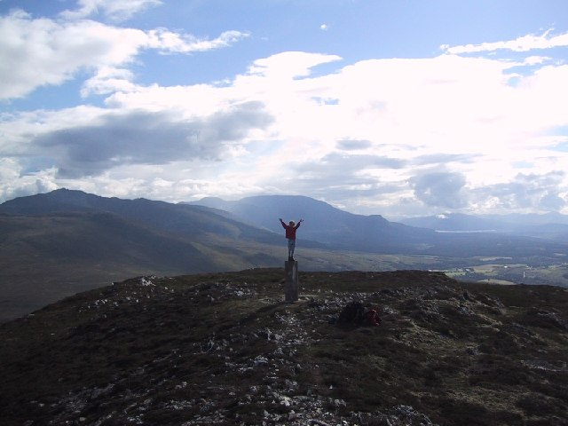 On the Summit of Creag Dhubh