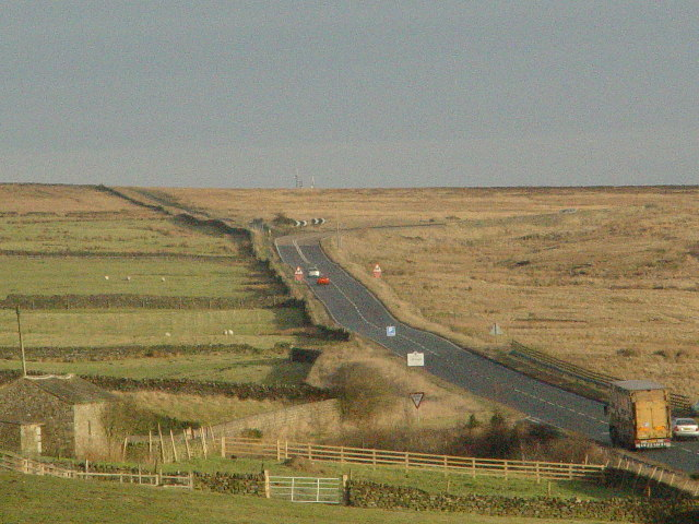 A59 on Kexgill Moor