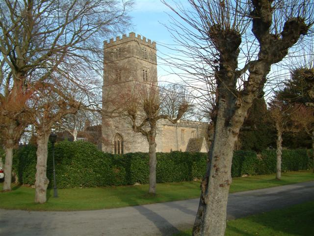 The Church from the grounds of Yarnton Manor