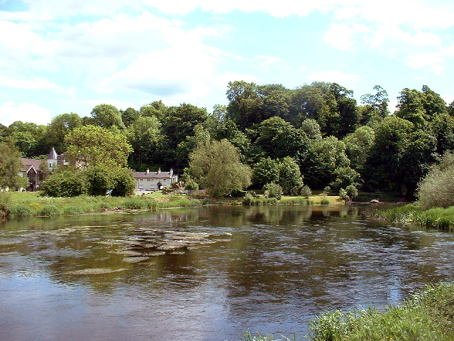 Kings Mills from the north bank of the River Trent