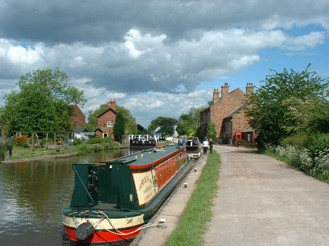 Shardlow lock on the Trent and Mersey Canal