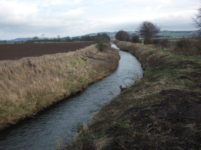 Looking East from Lathrisk bridge