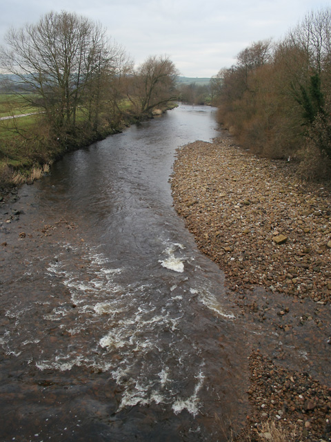 The River Wenning, Hornby, Lancashire