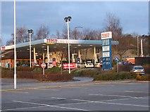 ST2381 : Tesco Petrol Station, St Mellons by John Thorn