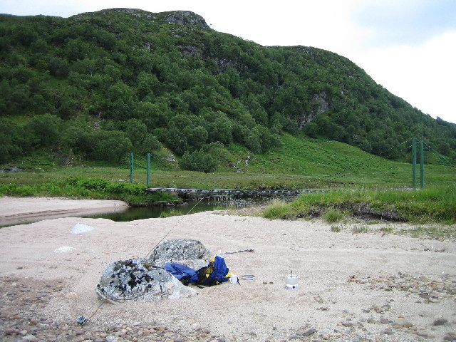 Beach at head of Loch Choire