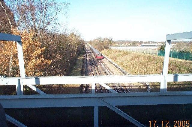 Jubilee Line railway between Queensbury and Canons Park