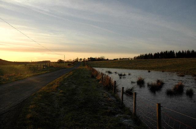 Looking west towards Tomshielburn