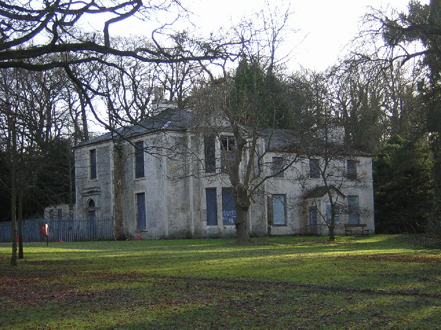Derelict Mansion House in Linn Park, Glasgow