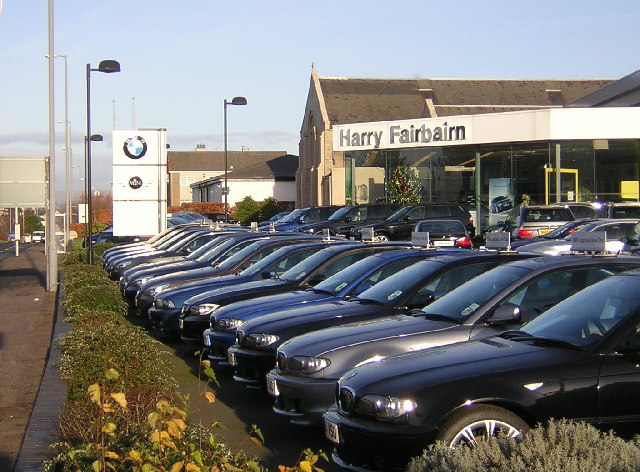 Car Showroom Forecourt, Giffnock