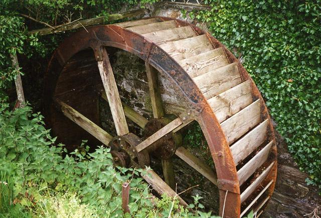 Bodmin Plant & Herb Nursery: waterwheel