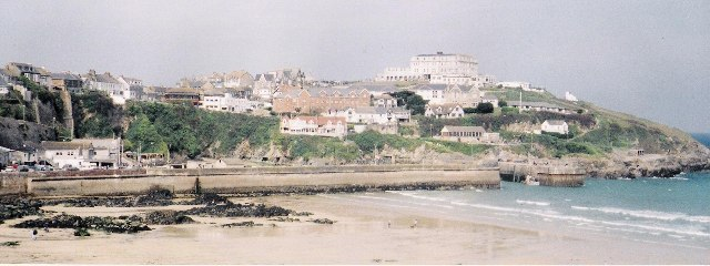 Newquay harbour and headland