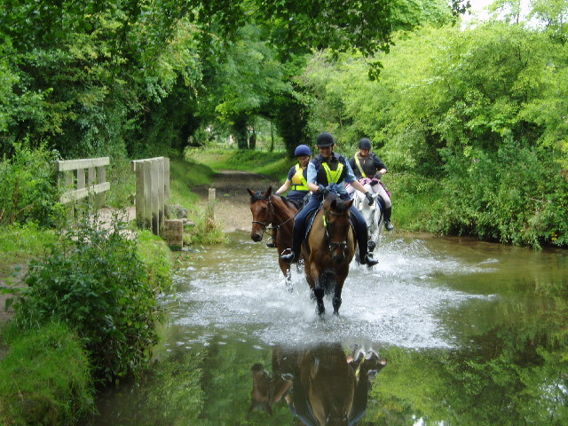 Riders ford the River Nar at West Acre