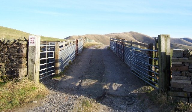 Knott Hall Farm entrance and pens.